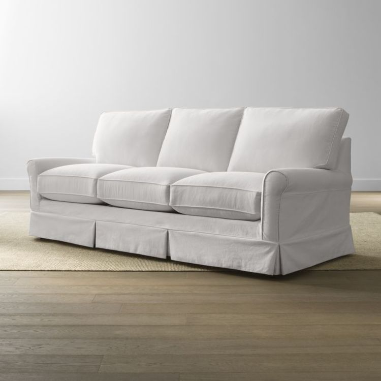 Harborside Slipcovered 3-Seat Sofa | Crate and Barrel
