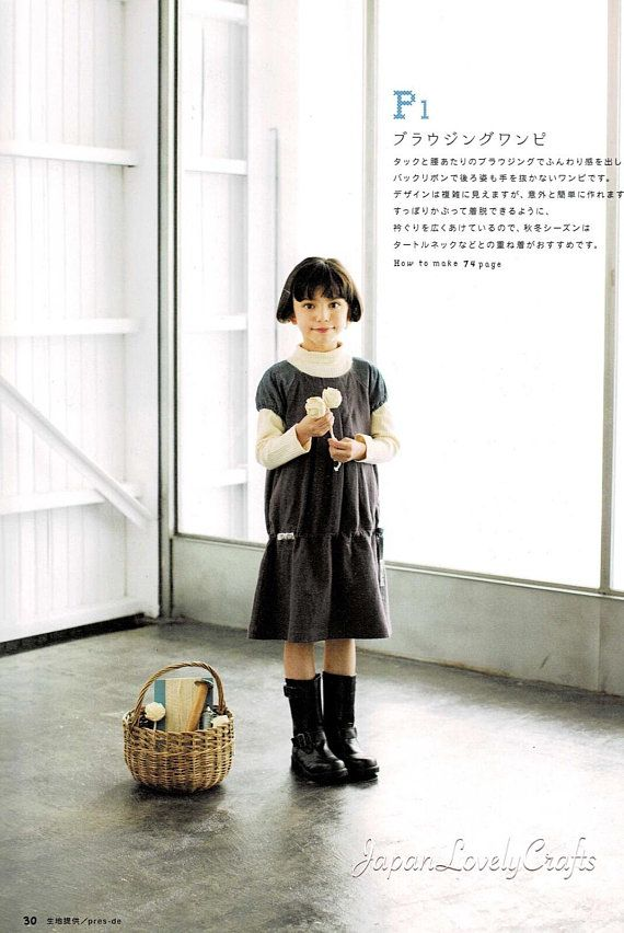 Kawaii Casual Girls Clothing Patterns, Japanese Sewing Pat