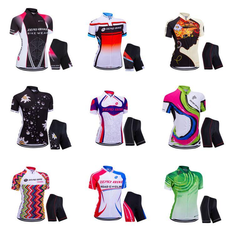 7ce526cd6 ZERO BIKE Women s Cycling Jersey Short Sleeve Jacket Quick Dry Breathable  Mountain Cycling Shirt + Pants XY01