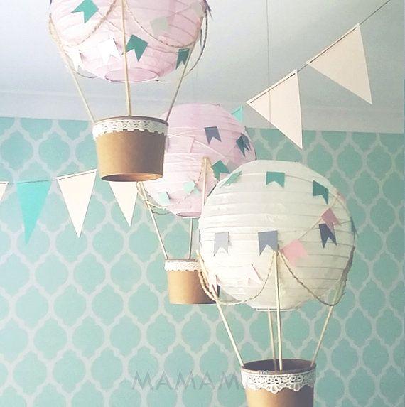 Whimsical Hot Air Balloon Decoration Diy Kit Pink Crea