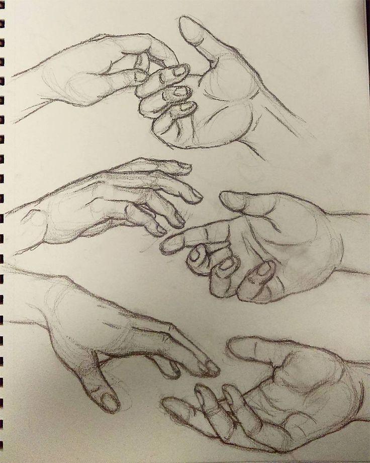 Prática de desenho de mãos dadas #drawings #art