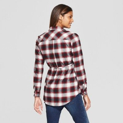 d815e6b5 Maternity Long Sleeve Plaid Flannel Popover Tunic - Isabel Maternity by  Ingrid & Isabel Black XS, Infant Girl's