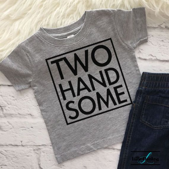 Two Handsome Shirt 2 Year Old Birthday Second