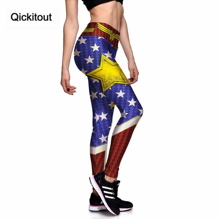 7a2ea3cb0d2819 Leggings New Fashion Sexy High waist Captain America Star Stripes 3D  Leggings New Fashion Sexy High waist Captain America Star Stripes 3D