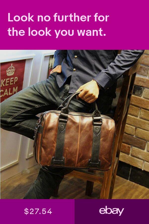 Men Vintage Style Leather Satchel School Military Shoulder Messenger Laptop  Bag. Bags Clothing, Shoes   Accessories  ebay 682b2ffc00