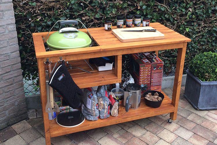 Weber Smokey Joe Table.The Handmade Table For A Weber Smokey Joe Barbecue