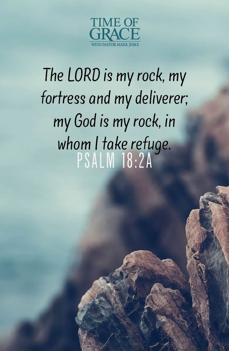 God is our rock, our shelter in the storm