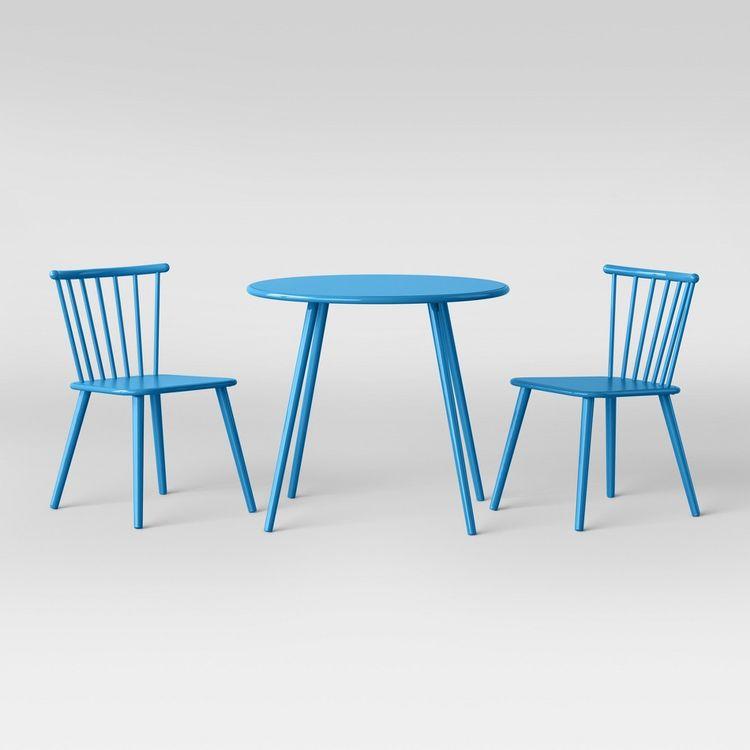 c73e000fa2e0 Metal Windsor Table And Chair Set Turquoise Dream - Pillowfort