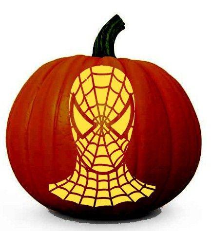 Spiderman Pumpkin Carving Stencil Template Diy Decorating A