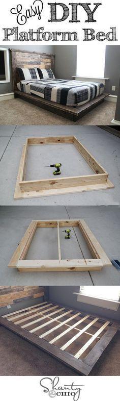 Easy DIY Platform Bed