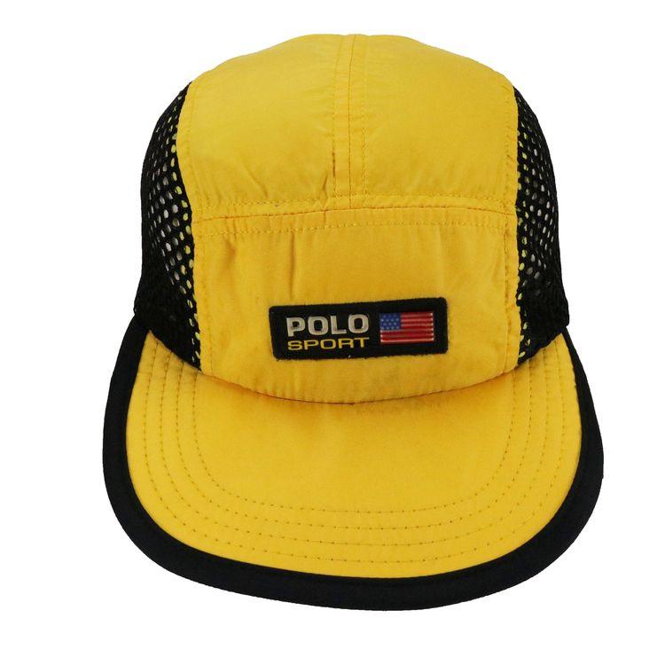 Excited to share the latest addition to my  etsy shop  Vintage 90s Polo  Sport Ralph Lauren Stadium Rl93 P wing Snow Beach USA Flag logo Cap Hat  Snapback ... a90b489d277a