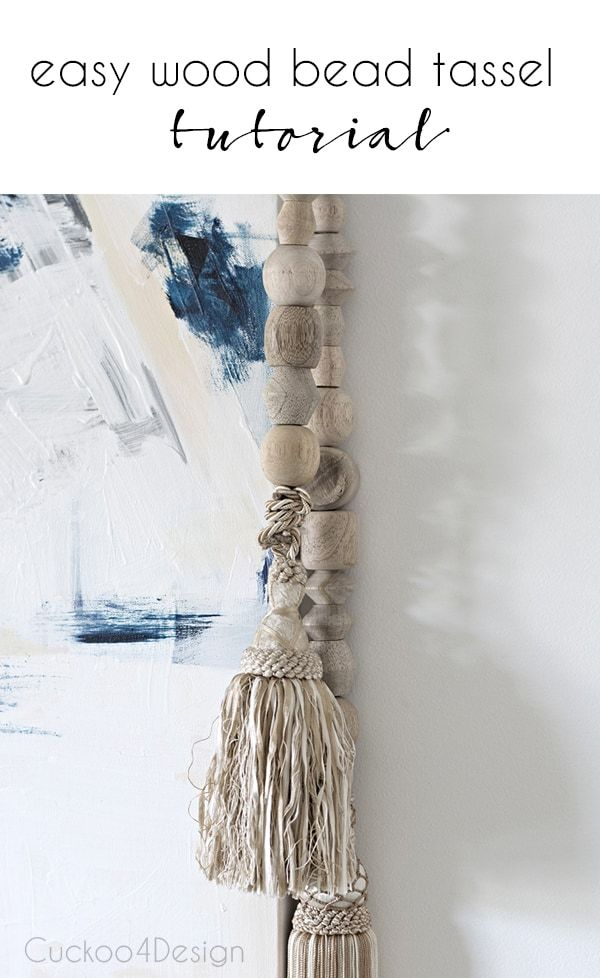 This wood bead tassel DIY is as easy as it gets and frames my art in a unique way
