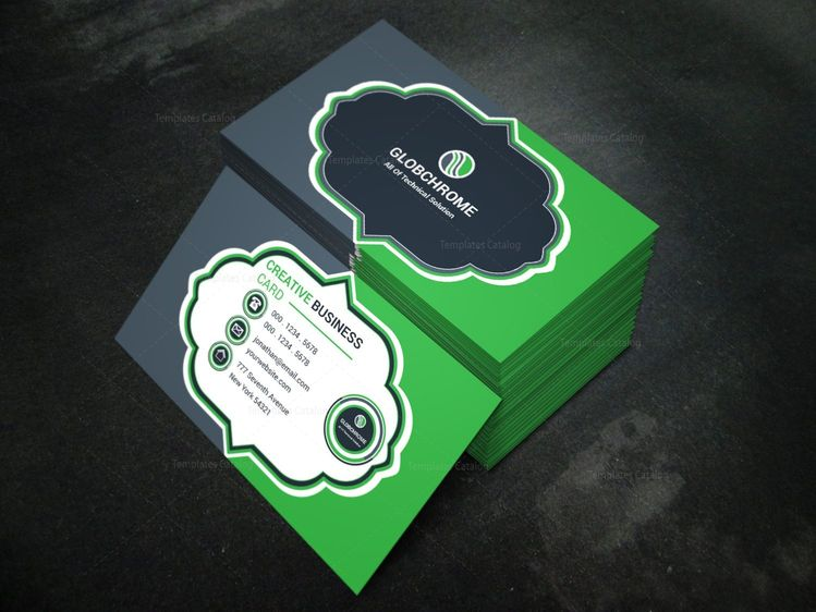 Badge Modern Business Card Design Template - Graphic Templates