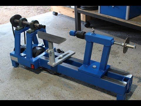 Tornio Per Legno Fai Da Te Homemade Wood Lathe Youtube