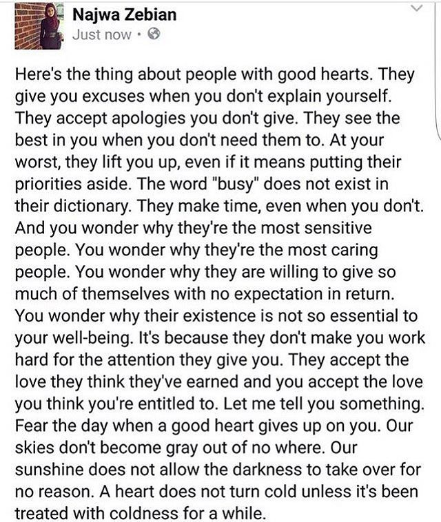 Good Hearts Get Taken For Granted Quotes