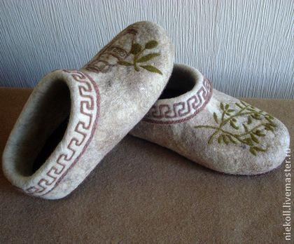 Обувь ручной работы. Ярмарка Мастеров - ручная работа Домашние тапочки