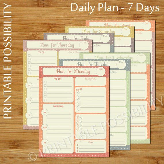 7 printable daily planner pages vintage polka dot daily to do list planner pages to do list da