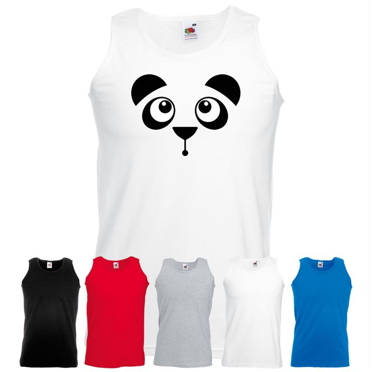 a8ba3685f Panda Face Cute Shirt Mens Vest Boys Tank Top Athletic Gamer Gift Bear  Lover  fashion  clothes  shoes  accessories  mensclothing   othermensclothing (ebay ...
