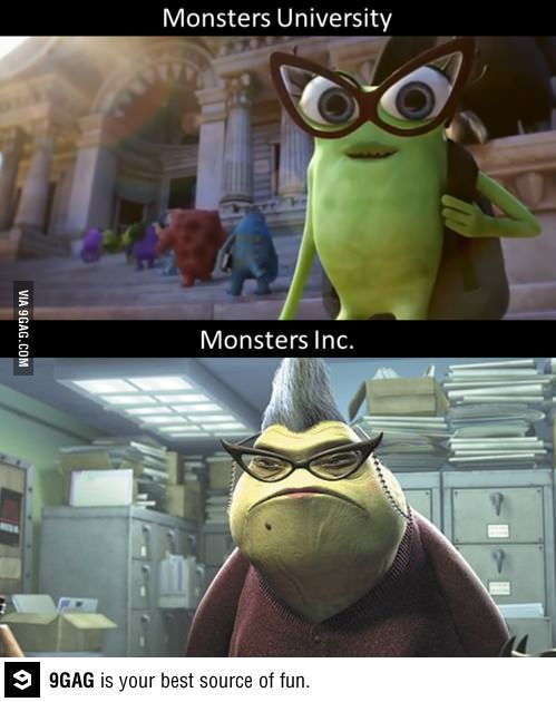 Think I found something in the new Monsters University Trailer..
