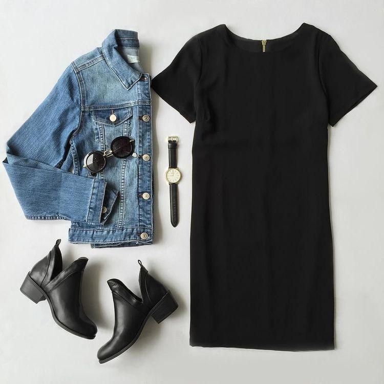 Lulus | Shift and Shout Black Shift Dress | Size Small | 100% Polyester
