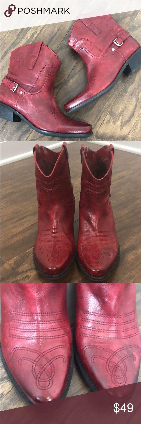 2ffcadad102 Franco Sarto Leather Waco Boots Amazing Genuine Leather Fra