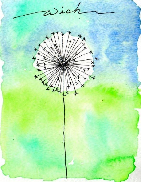 watercolor painting ideas beginners #watercolorpaintingideaspdf