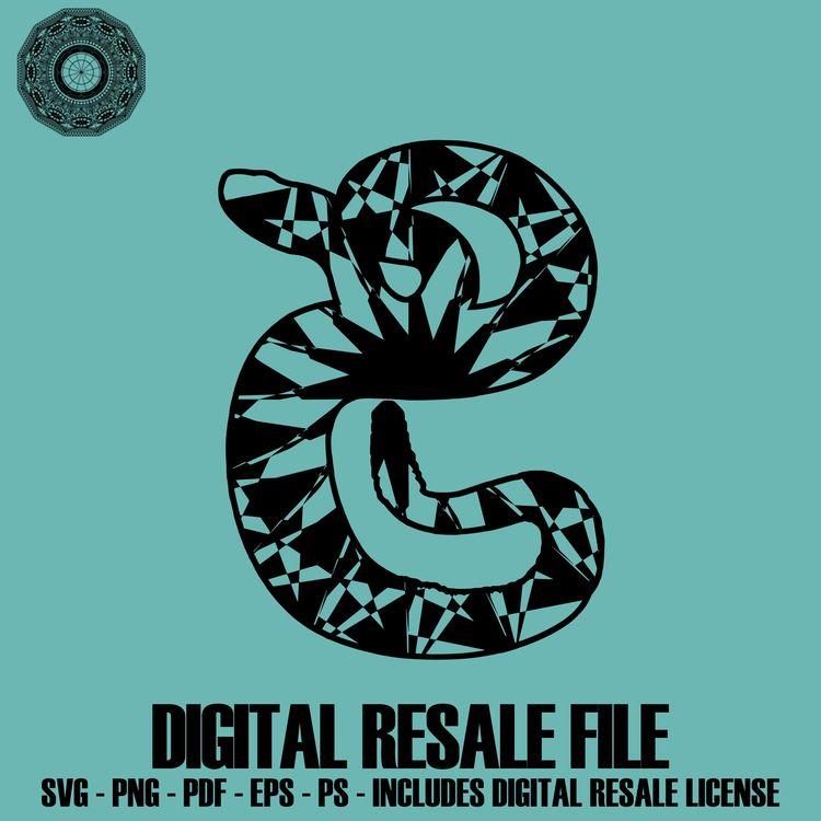 Rattlesnake Svg Files Mandala PNG Svg Mandala Design Mandal