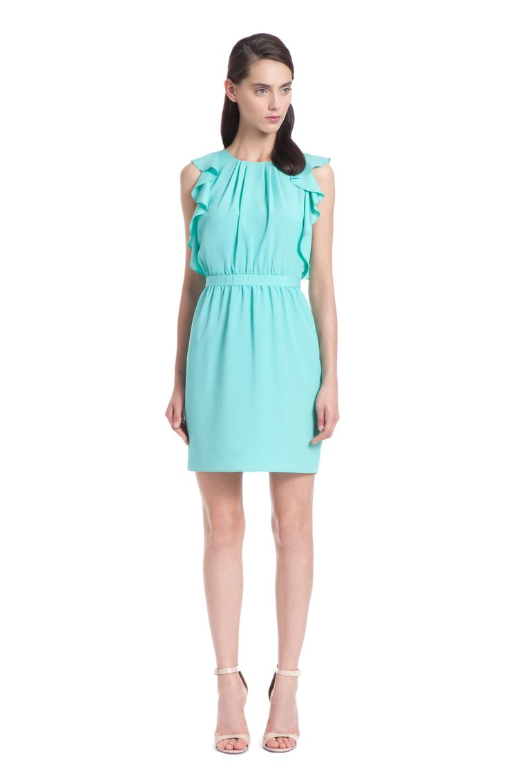 4d074bfc Aquamarine Crepe Katrina Dress
