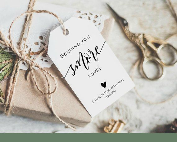 sending you smore love tag wedding favor tag template in