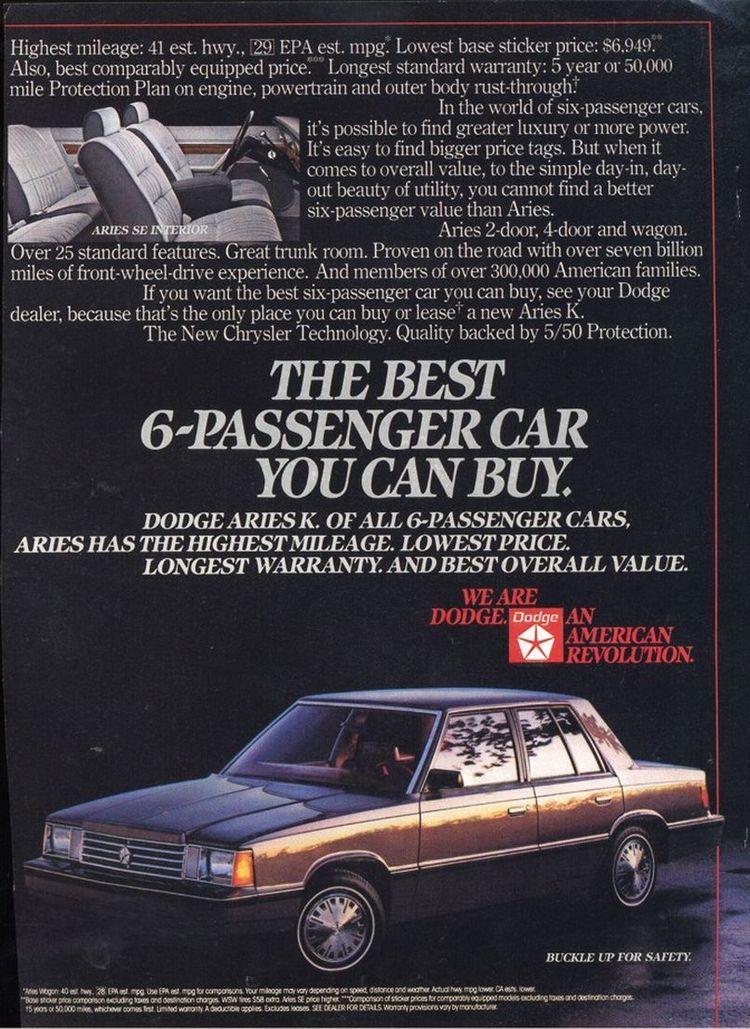 1983 Dodge Aries