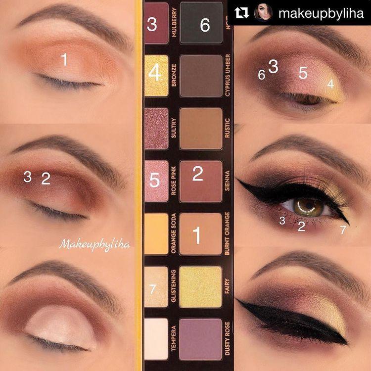 """🔥Tutoriais de sombra no Instagram: """"MUA: @makeupbyliha Paleta: ABH"""" Soft Glam """"・ ・ ・ aqui está como eu fiz meu último olhar, deixe-me saber se você gosta deste kinde de posts?  produtos…"""""""