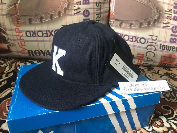 f909fa6480b Kith K Logo Wool Cap Navy