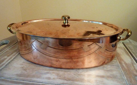Spring Copper Cookware Made By Culinox Switzerland Stainless Steel Interior Bottom Oval Roasting Pan With Lid Pot