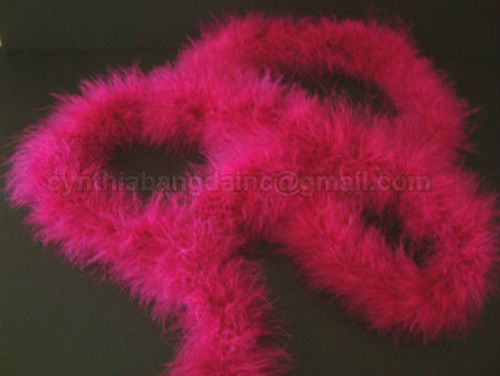 Purple 15 Grams Marabou Feather Boa 6 Feet Long Crafting Sewing Trim