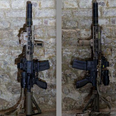 HK416 w/ Geissele rail setup