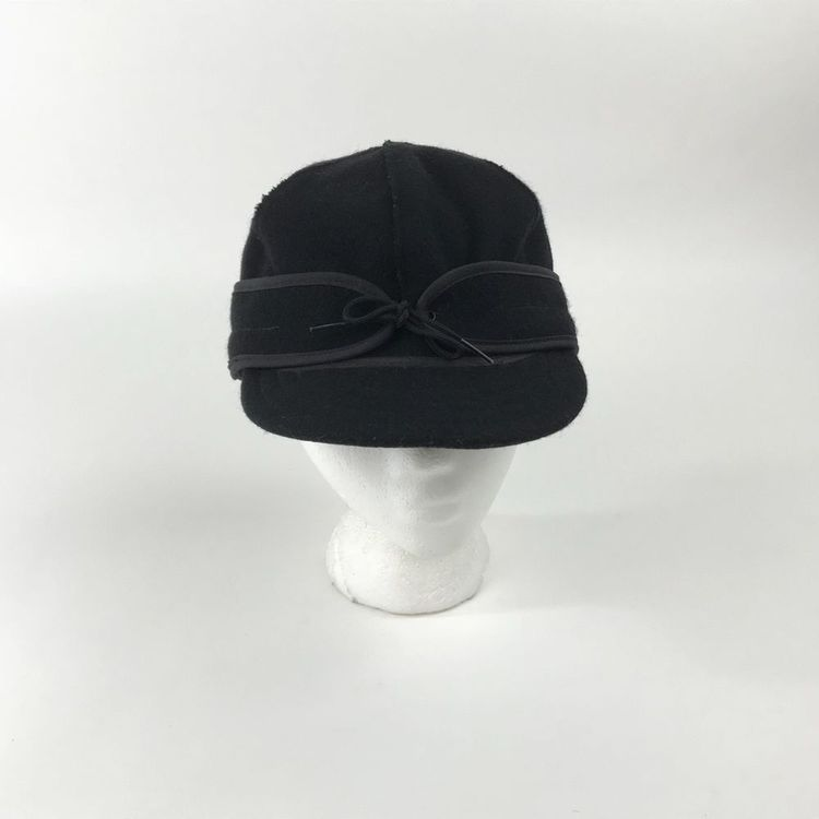 Stormy Kromer Cap 1903 Mens Size 7 3 8 Black Wool Blend Hat Made in USA   StormyKromer  Hunting 19bdf00a7df1