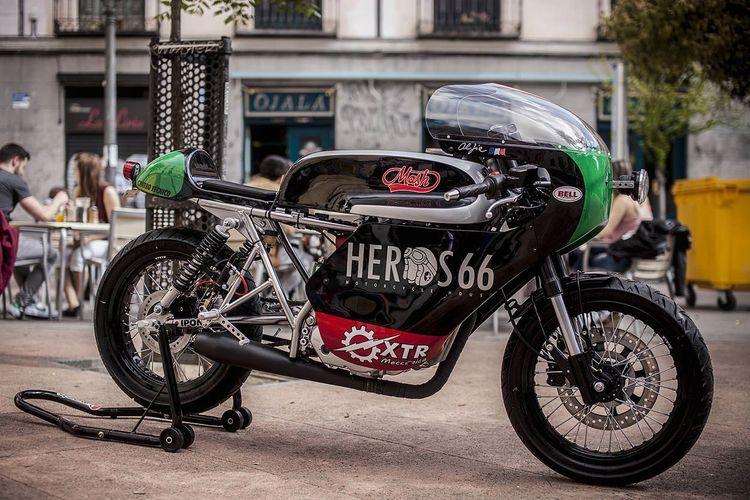 Custom Mash 250 cafe racer built by Madrid-based XTR Pepo.