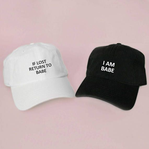 4bd39d8f466 If Lost Return to Babe Baseball Hat Dad Hat White Pink Black Embroidered  Unisex Adjustable Strap Back Baseball Cap dad cap Wedding Gift Idea