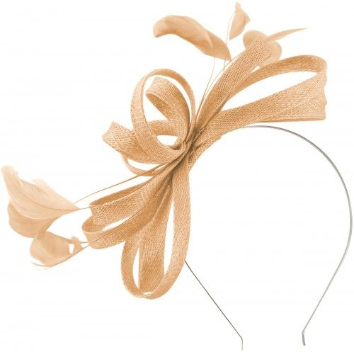0c990e12 Failsworth Millinery Sinamay Loops Fascinator in Cameo