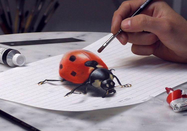 Desenhos 3D surpreendentes por Stefan Pabst