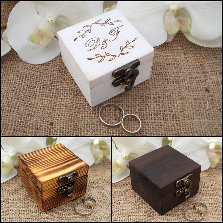 Wedding Rings Ring Bo Wooden Ideas For Wood Rustic Bearer Box Reclaimed