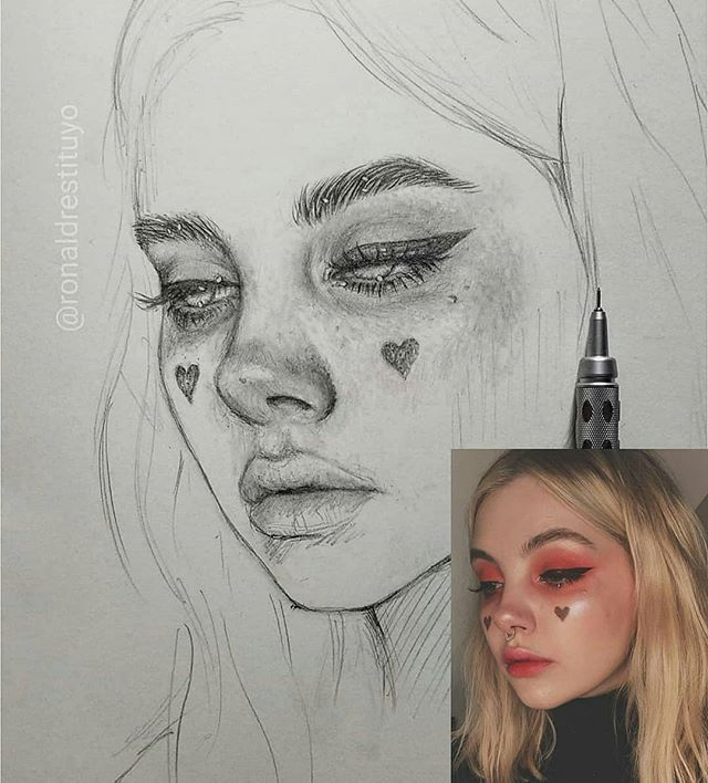 """Desenhando a alma no Instagram: """"Magníficos retratos a lápis de @ronaldrestituyo.  Qual deles é o seu favorito?"""""""