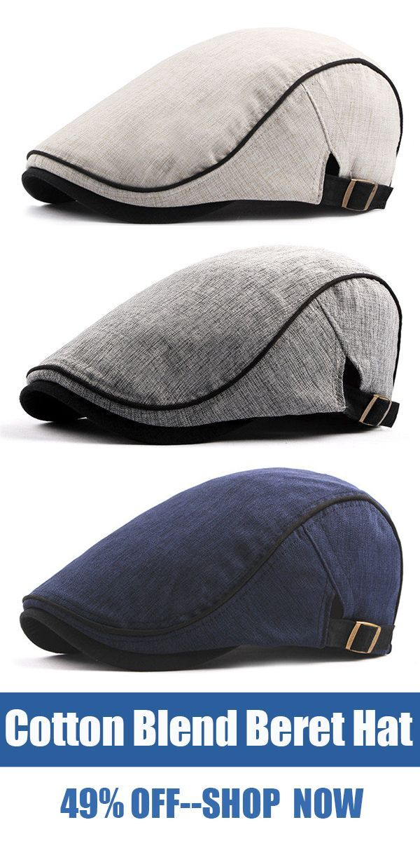 e8a4f38ea55d Unisex Cotton Blend Beret Hat /Casual Breathable Flat Cap /Ivy Gatsby  Newsboy Hat