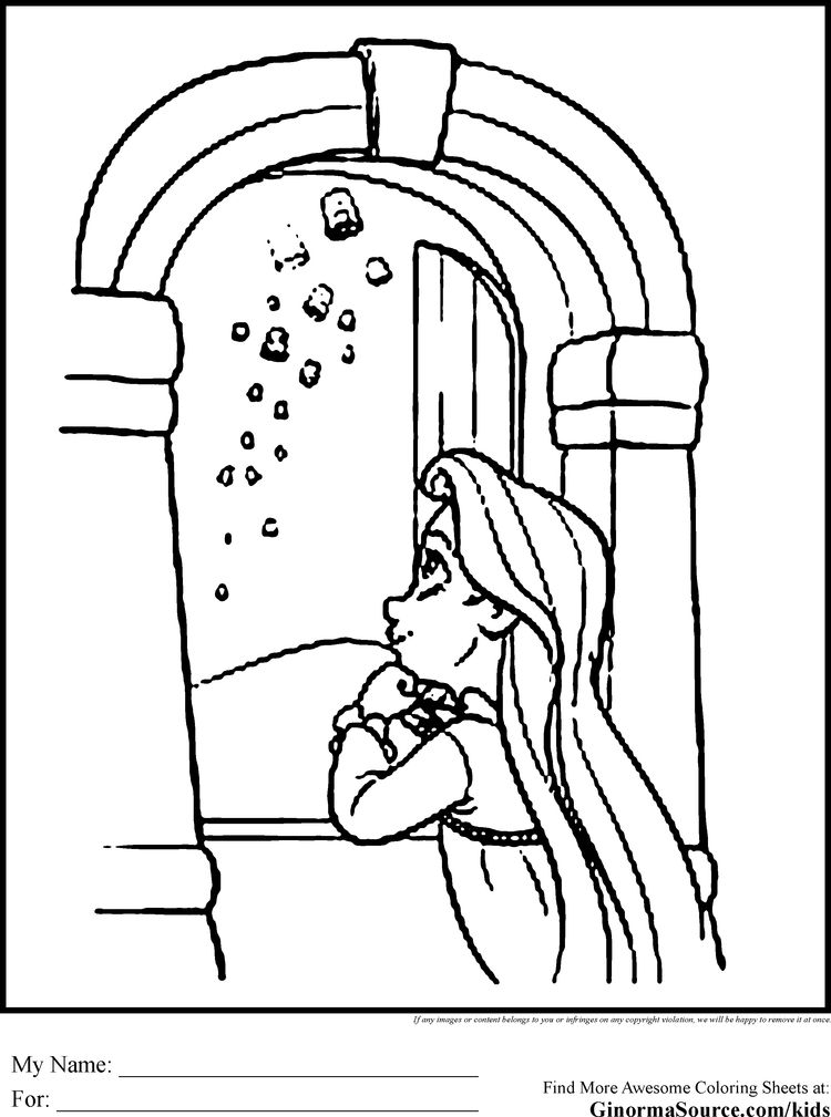 Tangled Coloring Pages Rapunzel