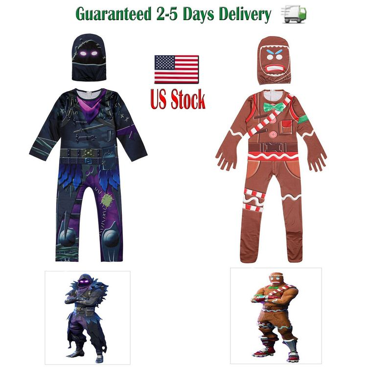 Fortnite Raven Gingerbread Man Halloween Costume Cosplay
