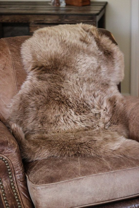 Sheepskin Rug Dog Bed Toffee Brown Australian