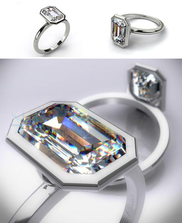 3ef293fb1ca41a James Allen Platinum Emerald cut Engagement Ring Solitaire Diamond  Engagement Rings by James Allen
