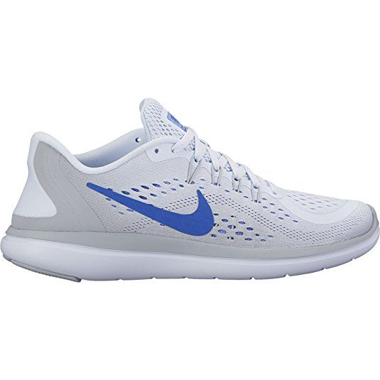60452aa48108 NIKE Women s Flex 2017 RN Running Shoe Football Grey Hyper Royal Wolf Grey  Size
