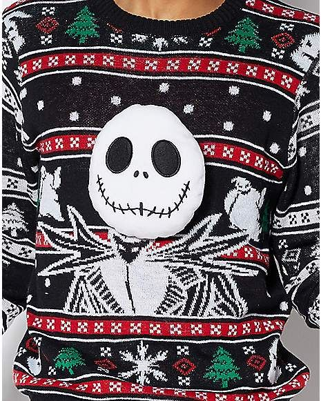 Jack Skellington Ugly Christmas Sweater The Nightmare Bef
