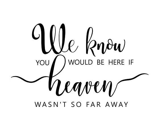 photograph about We Know You Would Be Here Today Free Printable called Memory Desk Printable, If Heaven Wasn